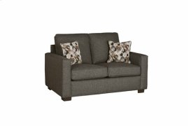 Loveseat - Charcoal Tweed Finish