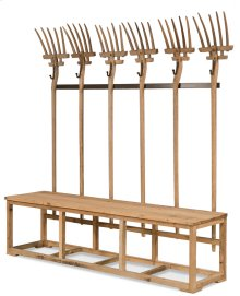 Pitchfork Bench And Hat Rack