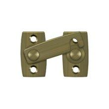 """Shutter Bar/Door Latch 1 3/8"""" - Antique Brass"""