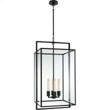 Visual Comfort S5193AI-CG Ian K. Fowler Halle 4 Light 18 inch Aged Iron Hanging Lantern Ceiling Light, Medium