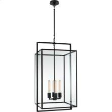 Visual Comfort S5193AI-CG Ian K. Fowler Halle 4 Light 18 inch Aged Iron Hanging Lantern Ceiling Light, Medium