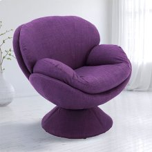 Pub Leisure Accent Chair in Purple Fabric
