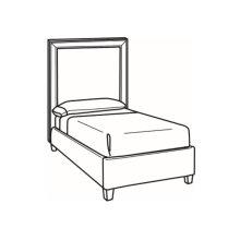 Twin Bed with Tall Headboard
