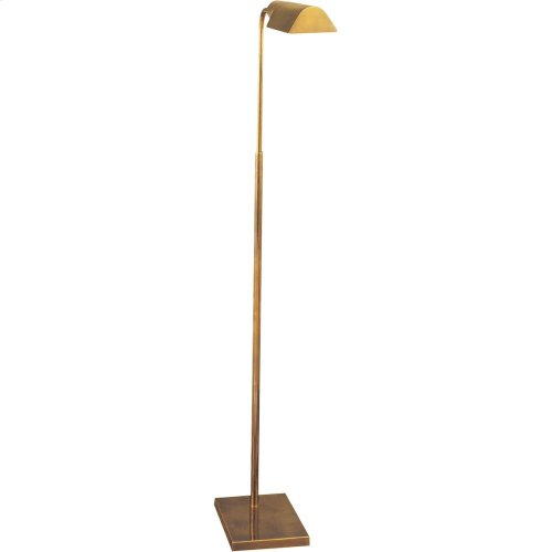 """Visual Comfort 91025HAB Studio Classic 34 inch 60 watt Hand-Rubbed Antique Brass Task Floor Lamp Portable Light, Shade is 3.5"""" by 6 by 2"""