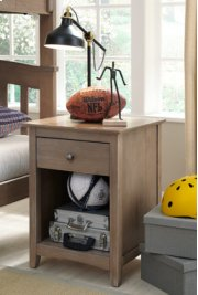 Lancaster 1-Drawer Nightstand Weathered Gray Product Image