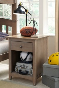 Lancaster 1-Drawer Nightstand Taupe Gray Product Image