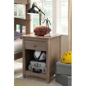 JOHN THOMAS FURNITURELancaster 1-Drawer Nightstand Taupe Gray