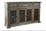 Console w/ 4 glass doors w/ 3 Drawers Product Image