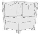 Larson Corner Chair in Mocha (751) Product Image