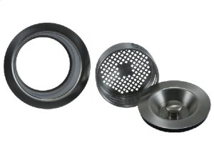 3-in-1 Complete Stopper & Strainer Unit Waste Disposer Trim - Extended Flange Product Image