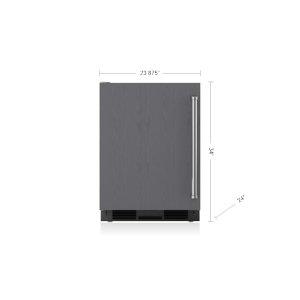 "Subzero24"" Undercounter Refrigerator/Freezer with Ice Maker - Panel Ready"