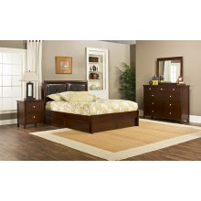 Metro 4pc Cherry Bedroom with Martin King Storage Bed