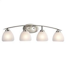 Calleigh Collection Calleigh 4 Light Bath Light in Brushed Nickel