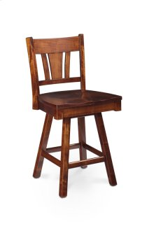 "Sheffield Swivel Barstool, Specify Seat Height 17""-31"", Fabric Seat"