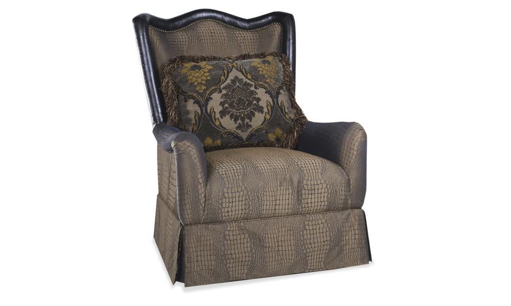 Giovanna Sable Skirted Accent Chair