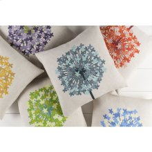 "Agapanthus AP-004 18"" x 18"" Pillow Shell with Down Insert"