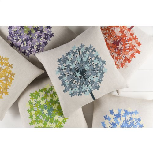 "Agapanthus AP-004 20"" x 20"" Pillow Shell with Polyester Insert"