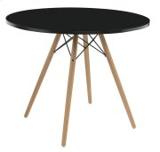 "Emerald Home Annette Dining Table-round Black Top 40"" D118-10-40blk-k Product Image"