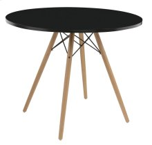 """Emerald Home Annette Dining Table-round Black Top 40"""" D118-10-40blk-k"""