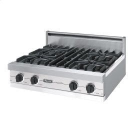 "Metallic Silver 30"" Open Burner Rangetop - VGRT (30"" wide, four burners)"