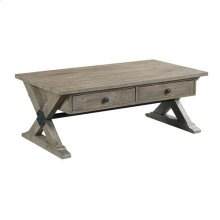 Reclamation Place Trestle Rectangular Cocktail Table