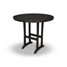 "Black 48"" Round Bar Table"