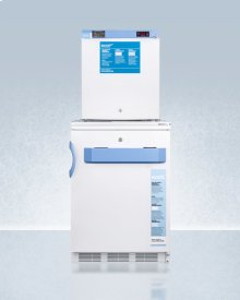 Stacked Combination of Ff7lbimed2 Auto Defrost All-refrigerator and Fs24lmed2 Compact Manual Defrost All-freezer, Both With Locks, Digital Controls, and Nist Calibrated Alarm/thermometers