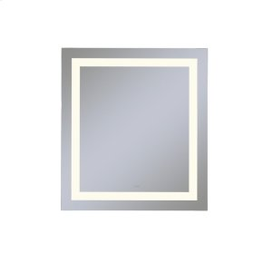 """Vitality 36"""" X 40"""" X 1-3/4"""" Rectangle Lighted Mirror With Inset Light Pattern, 2700 Kelvin Temperature (warm Light), Dimmable and Defogger"""