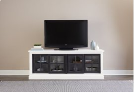 74 Inch Console - Snow/Black Finish