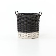 Dry Black Round Hampers: Set of 3