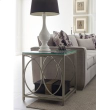 Glass Top End Table