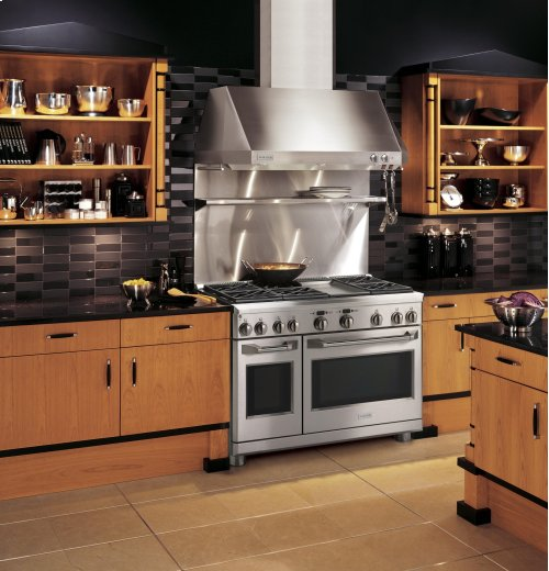 """Clearance Model - One of a Kind - Monogram 48"""" Dual-Fuel Professional Range with 6 Burners and Griddle (Natural Gas)"""