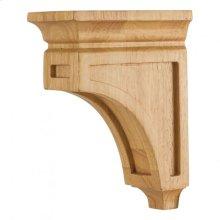 "3"" x 6"" x 8"" Mission Style Wood Bar Bracket Corbel, Species: White Birch"