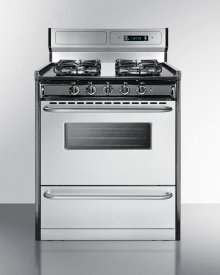 """30"""" Wide Gas Range With Sealed Burners, Stainless Steel Doors, and Deluxe Backguard; Replaces Tnm23027bfkwy"""