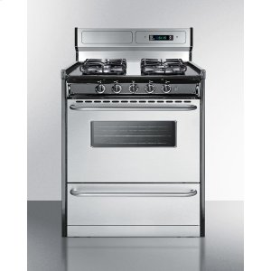 "Summit30"" Wide Gas Range With Sealed Burners, Stainless Steel Doors, and Deluxe Backguard; Replaces Tnm23027bfkwy"