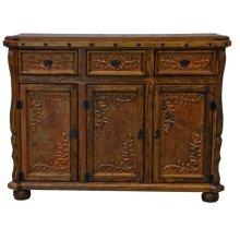 Old Wood Copper Credenza