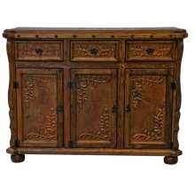 Old Wood Copper Credenza