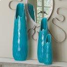 Diamante Vase-Aqua-Lg Product Image