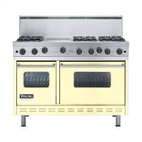 """Lemonade 48"""" Open Burner Range - VGIC (48"""" wide, six burners 12"""" wide griddle/simmer plate)"""