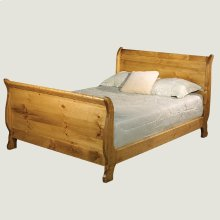 Solid Sleigh Bed