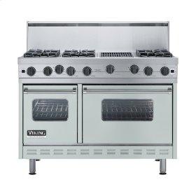 "Sea Glass 48"" Open Burner Range - VGIC (48"" wide, six burners 12"" wide char-grill)"