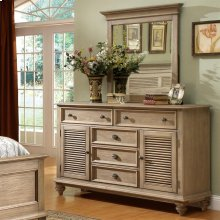 Coventry - Shutter Door Dresser - Weathered Driftwood Finish
