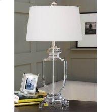 Crystal Flat Urn Table Lamp