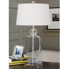 Crystal Flat Urn Table Lamp