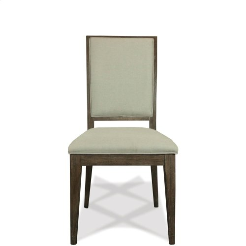 Joelle - Upholstered Side Chair - Carbon Gray Finish