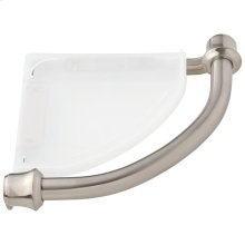 Stainless Traditional Corner Shelf with Assist Bar