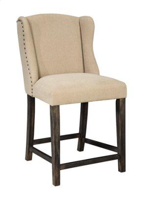 """Upholstered Barstool 24"""" Moriann Light Beige"""