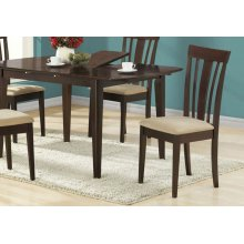"DINING CHAIR - 2PCS / 38""H / CAPPUCCINO WITH MICROFIBER"