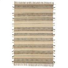 Block Print Pattern Thread Stripe 4'x6' Rug (Each One Will Vary).