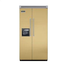 """Golden Mist 42"""" Side-by-Side Refrigerator/Freezer with Dispenser - VISB (Integrated Installation)"""
